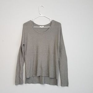 Helmut Lang grey ribbed sweater